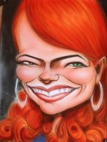 Emma Stone - Easy A by infiltr8arts