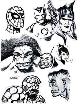 Classic Marvel Sketches by LostonWallace