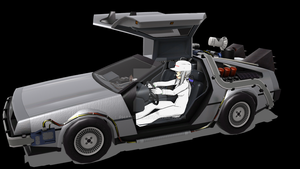 MMD BTTF2 Delorean Time Machine Project 4.0 WIP by Phamser