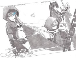 Black Rock Shooter Characters by eXGrS