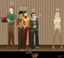 The Big Bang Theory - The gang by Chisako