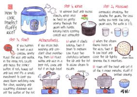 How to cook fuffy rice by WinMush