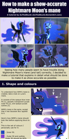 Tutorial: Nightmare Moon's mane by ZuTheSkunk