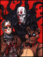 Jason Slenderman and Freddy by Cageyshick05