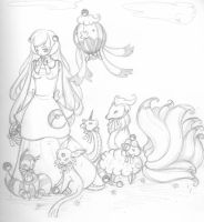 Pokemon Breeder Sketch by Jamethial