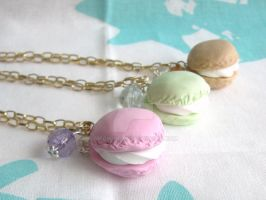 Sweet Macaroon Necklaces by Meow-Box