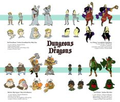 Dungeons and Dragons character sheet by spuds-n-stuff