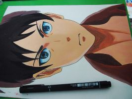 Attack on titan acrylic painting by Myway1540
