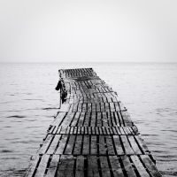 the black and white sea no.7 by herbstkind