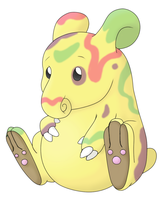 Pre-Evo of Drowzee pose 1 by Twime777