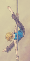 Pole Dancing by SybLaTortue