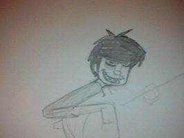 murdoc sketch unfinished. by Cryis