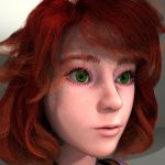 Amber 3D WIP 003 by Xiven