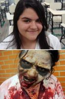 Zombie (before/after) by fontenelefx