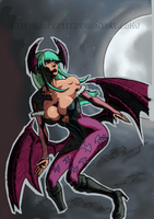 Morrigan Colored by daremaker