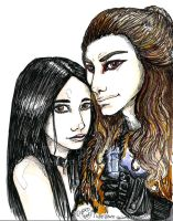 Graverobber and Shiloh by tsareia
