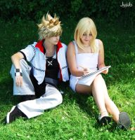 Roxas and Namine by jujub
