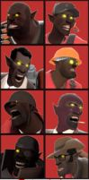 TF2 Werewolves Avatars Pack by RatchetMario