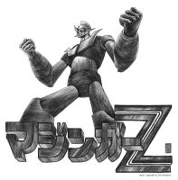 Mazinger Z black and white by christiangmarra