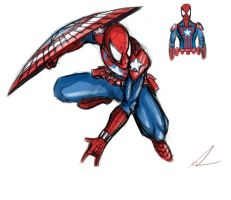 Captain Spidey Sketch 2 by FuShark
