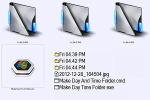 New Folder Current 'Day And Time' Automatically by E-MC-2