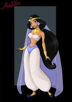 princess jasmine  -  poor iago by nightwing1975
