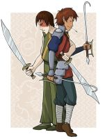 Jet and Zuko: Dual Swords by AliWildgoose