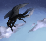 By the clouds and stars - commission by BlueberryChill