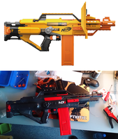 Mass Effect N7 Stampede Nerf Gun Transformation by bbqjoe