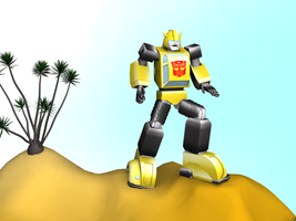 3D Bumblebee by Laserbot