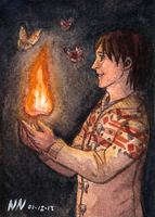 Aceo 37: Moth Light by SailingBreezes