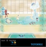 Day 11 Totodile by Jacklave