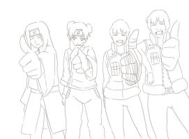 team gai lineart by BayneezOne