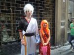 lucca comics 2013-gin and kagura by Darkibrid