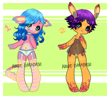 [ Cutie Anthros 1: CLOSED ] by adopt-database
