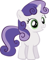 Sweetie Belle as Rarity by Jdueler11