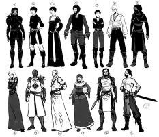 Characters concepts by Dolmheon
