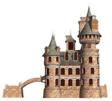 Castle 22 PNG Stock by Jumpfer-Stock