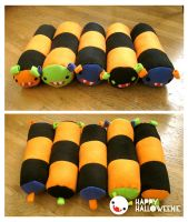 halloweenie caterpillows by PrestoMatic