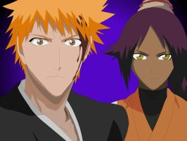 Ichigo and Yoruichi :3 by Mifang