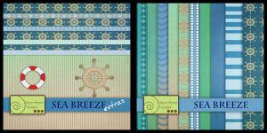 Sea breeze papers and elements by paperstreetdesigns