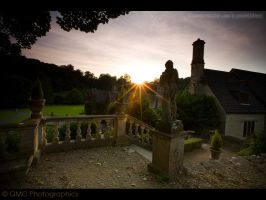 Sunsetting over the Manor by GMCPhotographics