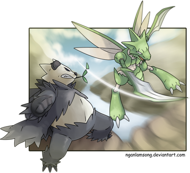 Pangoro Vs Scyther! by nganlamsong