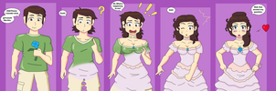 Southern Belle Gender Transformation (Commission) by TheMaskofaFox