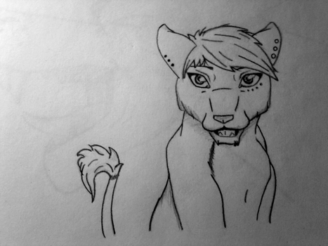 SKETCH - LionChanti Fursona ( re-design ) by LionChanti