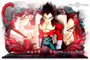 Sign - Vegeta Ssj 4 by Leomonti
