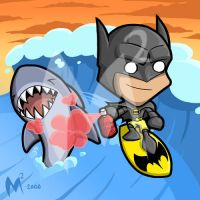 Commission - Surfing Batman by MattMoylan