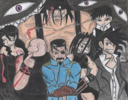 Fullmetal Alchemist Brotherhood Homunculi by Ronald0912