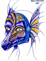 Dragon Mask by LunarBerry