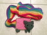 Nyan Cat - Poptart Cat Scarf by SweetNerdyCakes